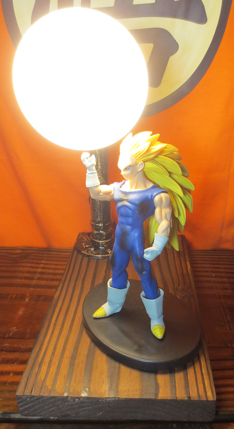 KNL HOBBY LED desk lamps explosion models Dragonball Vegeta hand to do over three led Eye Spot shipping creative birthday gift knl hobby voyager model pea306 soviet union gaz aaa three axis truck with cross country track metal etching pieces