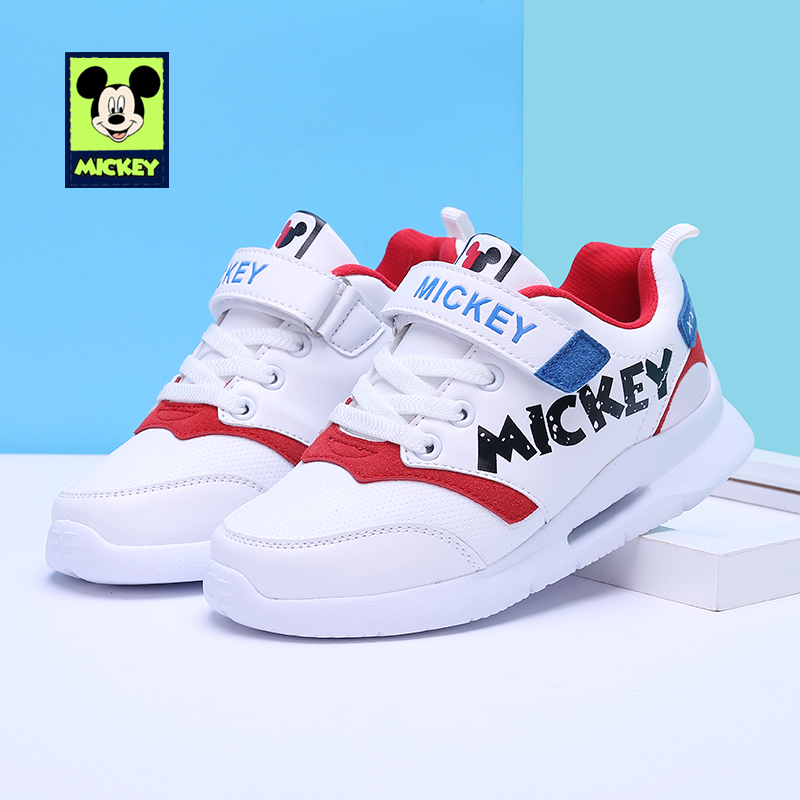 Disney children's Mickey shoes for kid boys girls fashion running shoes casual comfortable sports shoes tide Sneakers size 26-37(China)
