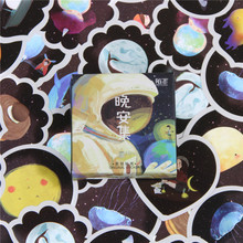 45 Pcs lot Cartoon Good Night Mini Paper Sticker Decoration Diy Ablum Diary Scrapbooking Label Toys