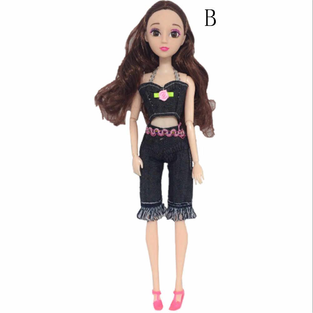 1 комплект, 4 стиля, модный ковбойский костюм принцессы с куклой, сменить наряд, джинсы, топы, штаны, юбка, шорты для девочек, 30 см, игрушка лучший подарок