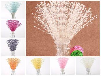 20 bukiet kwiat perłowy macierzystych koraliki Garland spraye bukiet ślubny wesele tanie i dobre opinie Poliester