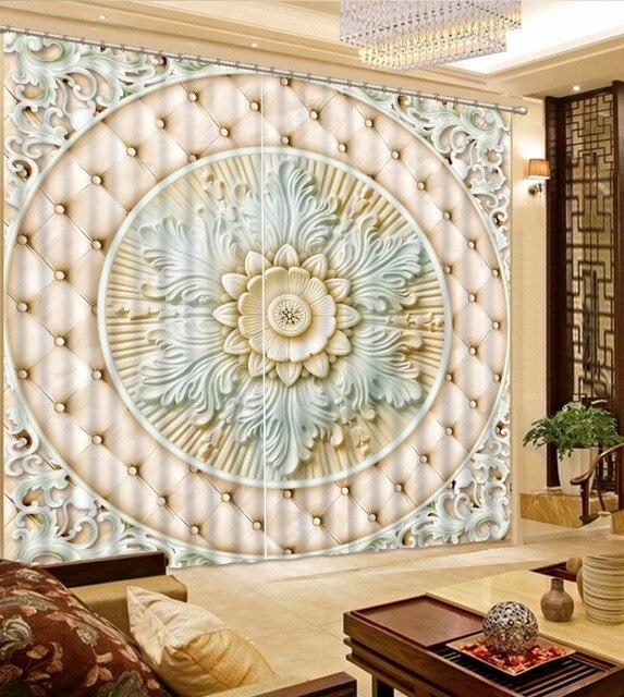 Moderne Vorhang Muster Marmor 3D Vorhänge Für Wohnzimmer Vorhänge ...