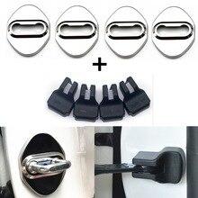 Отделка дверного замка, крышка из нержавеющей стали, наклейка, автомобильный Стильный чехол для Corolla Camry Avensis Rav4 Yaris Toyota Auris