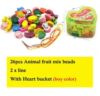 Ξύλινα Παιχνίδια Για Παιδιά 3+ Φιγούρες Ζώων Και Φρούτων 26 Τεμάχια