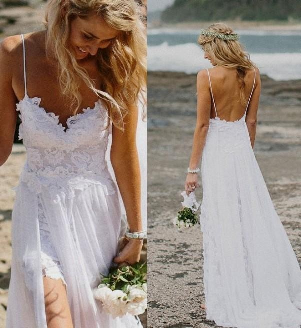 Top-Selling-Spaghetti-Strap-Beach-Boho-Cheap-Bohemian-Lace-Front-Short-Long-Back-Wedding-Dress-Gown
