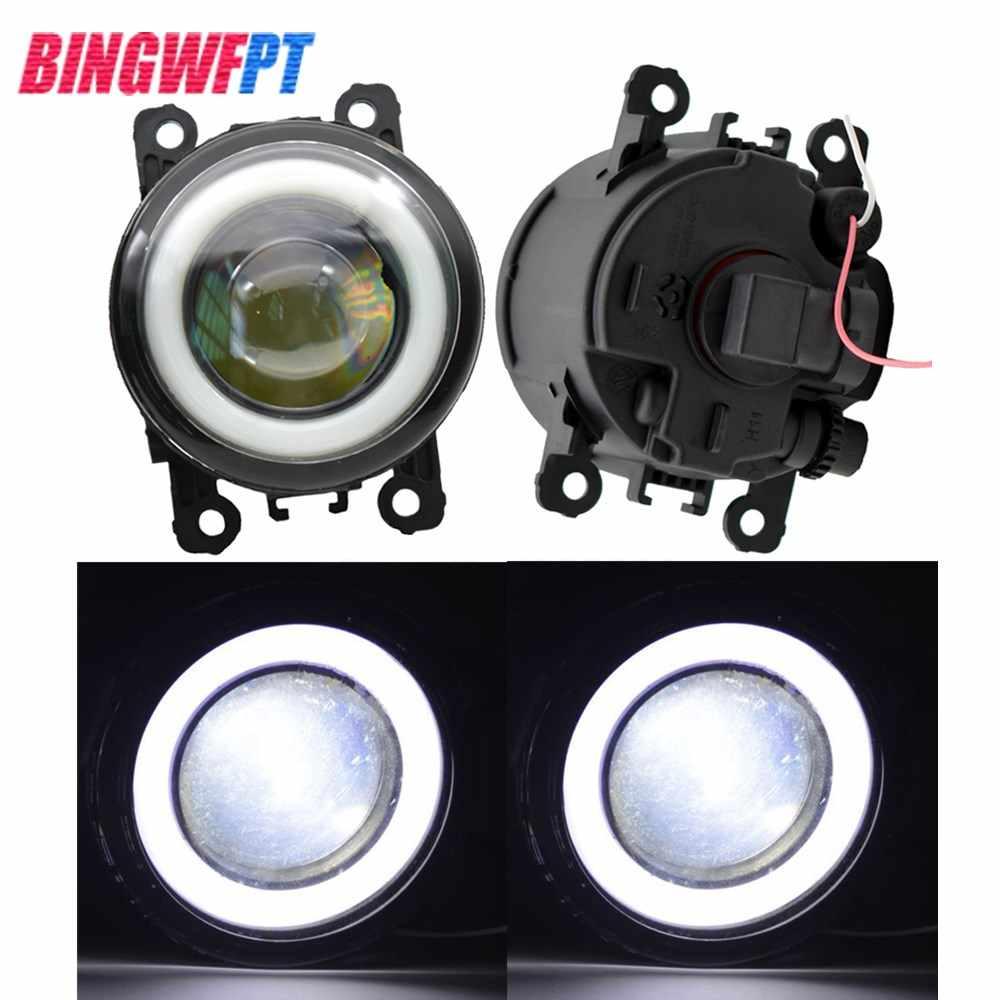 2x phares antibrouillard 12 V LED avec œil d'ange H11 pour OPEL ASTRA H GTC 2005-2015 pour Opel Corsa D Hatchback 2007-2015