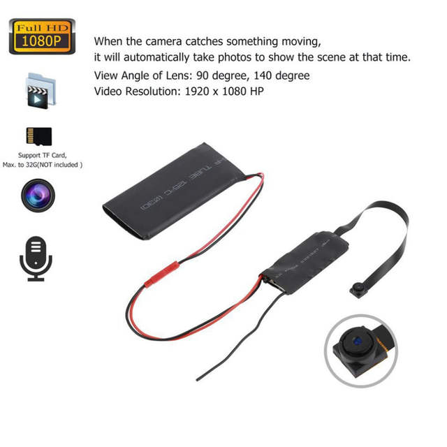 Us 16 94 20 Off Mini Full Hd 1080p Security Spy Diy Hidden Camera Module Dvr Camcorder In Vehicle Camera From Automobiles Motorcycles On