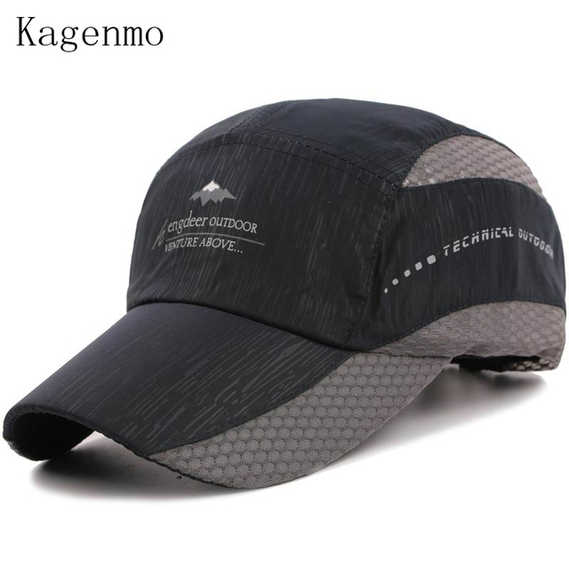880c90b1b00 Kagenmo Quick dry sports men baseball cap outdoor fishing men hat caps  summer thin cotton breathable