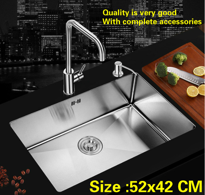 Free shipping Standard fashion trumpet mini kitchen manual sink single trough 304 food grade stainless steel hot sell 52x42 CMFree shipping Standard fashion trumpet mini kitchen manual sink single trough 304 food grade stainless steel hot sell 52x42 CM
