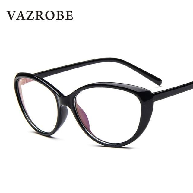 9ec7095b20 Vazrobe Cat Eye glasses women s degree frame for woman Points Nerd Prescription  Spectacles clear lens black