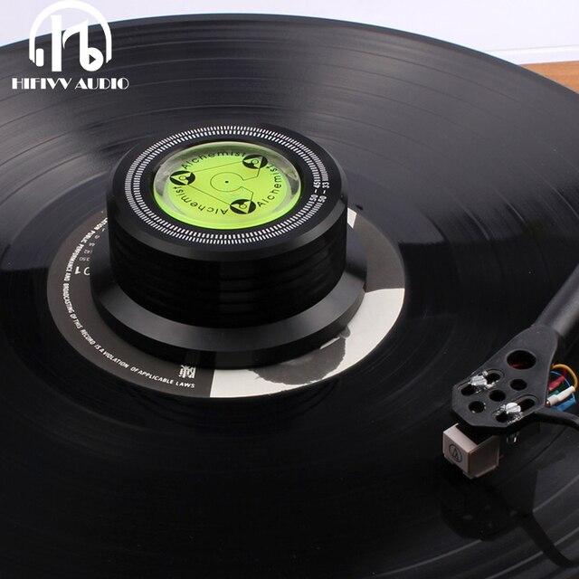 Estabilizador de disco de metal do vinil do lp da braçadeira de peso do registro de alumínio para o jogador de registros acessórios estabilizador de peso do disco lp