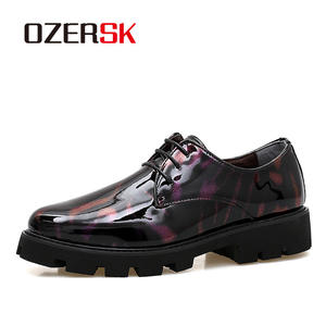 OZERSK Formal Shoes Oxford Business Patent Leather Fashion Luxury Men