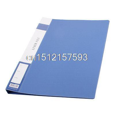 Metal Clip Binder Blue Plastic Document File Folder Holder for A4 Papers