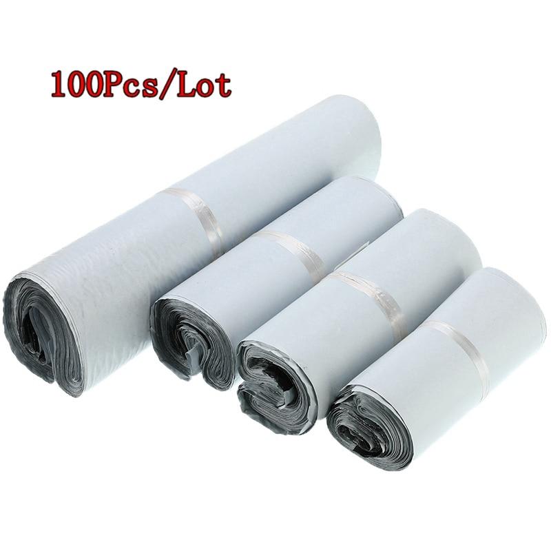 100Pcs/Lots Plastic Envelope Bag Self-seal Adhesive Courier Storage Bags Plastic Envelope Mailer Postal Shipping Mailing Bags