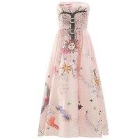 Новое атласное платье без бретелек с принтом для женщин с летней талией