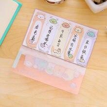 Sevimli Sumikko Gurashi PVC Kılıf Ile yapışkan Not Defteri Yapışkan Not Dekoratif Çıkartmalar Öğrenci Kırtasiye Okul Ofis Tedarik