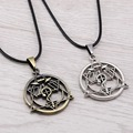Julie Anime Fullmetal Alchemist Symble Choker Necklaces   Pendants Edward Hollow Magic Circle Necklace colar feminino JJ11895
