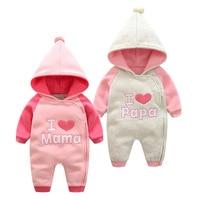 new born clothes infants winter baby overalls romper jumpsuit little sister newborn 9 month girl clothes pink infant snowsuit
