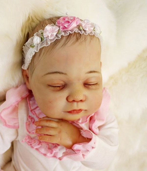 55cm Soft Silicone Reborn Baby Dolls Toy Exquisite Sleeping Newborn Girls Babies Birthday Gift Princess Collectable Doll 55cm silicone reborn baby dolls toy fot girls kids birthday gift present newborn girl babies princess dolls collectable doll