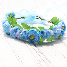 Purple Blossom Crown Daisy Flower Wreath headband Floral garland flower crown Hair Accessories forehead wreath headdress best selling bohemian style floral flower headband party wedding bridal hair bands wreath garland forehead hair accessories