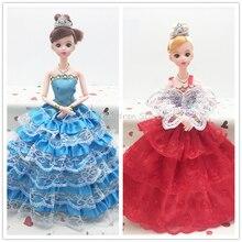 Принцесса Игрушки Куклы С Одеждой Платье Для Девушки Детей Подарок На День Рождения Моды Свадебное Платье Для Одежды Носит Dolls Toys