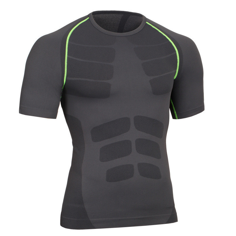 남성 Compression Shirt 근육 Spareribs Shaping Crossfit T-Shirts - 남성 의류 - 사진 2