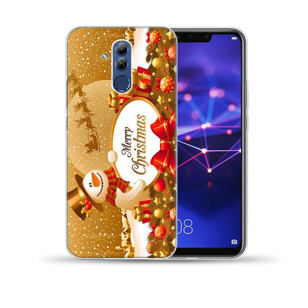 Merry Christmas Soft TPU Case Cover For Coque Huawei Mate 10 20 Lite Pro Honor 9 Lite 10 8X 7A Note 10 Y6 Silicone Capa