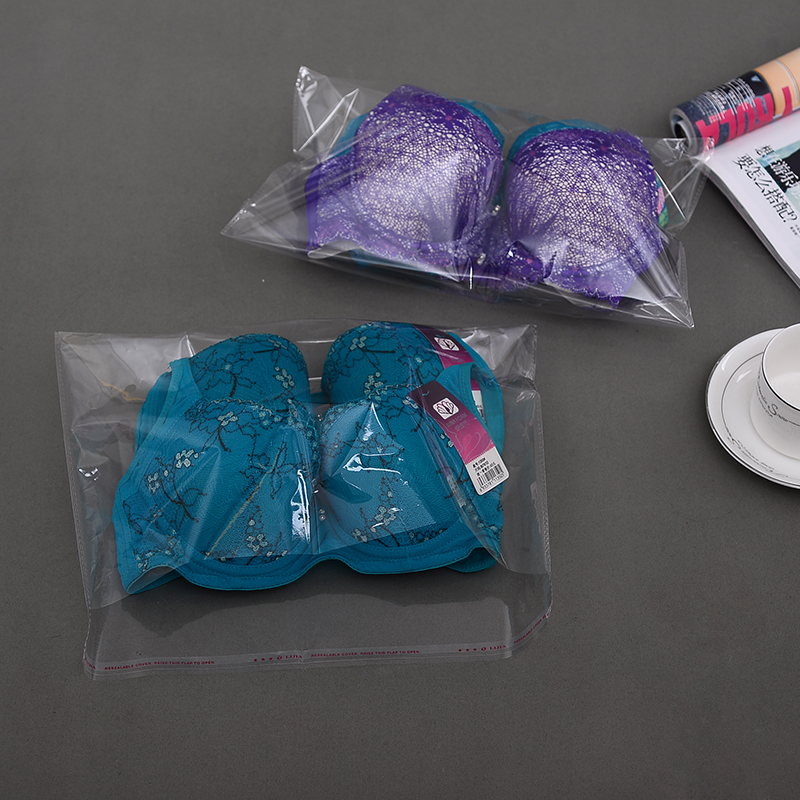 Clear Resealable 200pcs OPP Plastic Bag For Book 23 X 32cm+4cm Flap Self Adhesive Seal Magazine Bra Packaging Bags