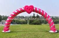 8 м (26 футов) надувные сердце Свадебный Арки Арка С CE Air Воздуходувы