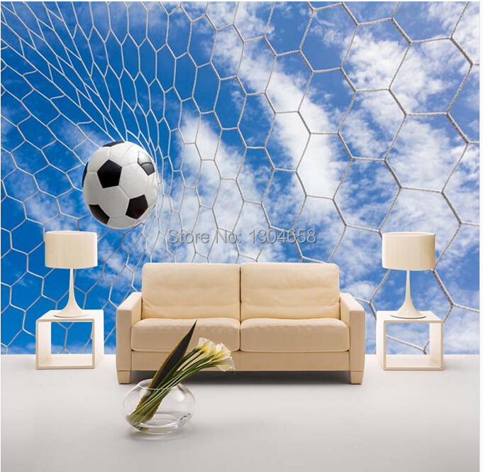 Free shipping custom modern 3D large mural sports football TV Bedroom Sofa children room background wall wallpaper free shipping european football club football star messi portrait wallpaper mural