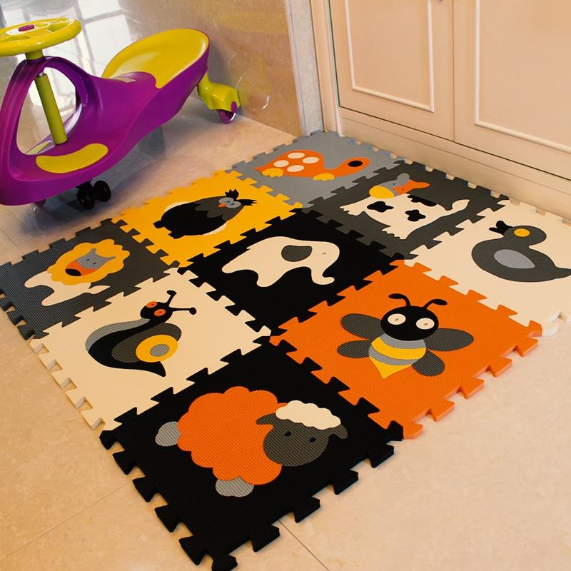 Meiqicool 9pcs Set Eva Foam Play Mat Baby Puzzle Floor