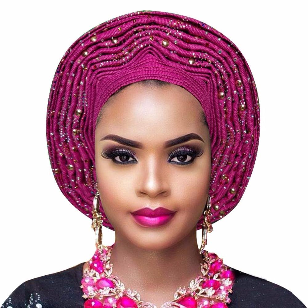 Aso oke gele headtie african wedding fashion headtie women headwrap new style aso oke nigerian turban (11)