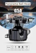 XILETU G 54 삼각대 볼 헤드 360 학위 더블 파노라마 사진 알루미늄 볼 헤비 듀티 퀵 릴리스 플레이트
