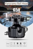 XILETU G 54 Tripod Ball Head 360 Degree Double Panoramic Photography Aluminum Ballhead Heavy Duty With Quick Release Plate
