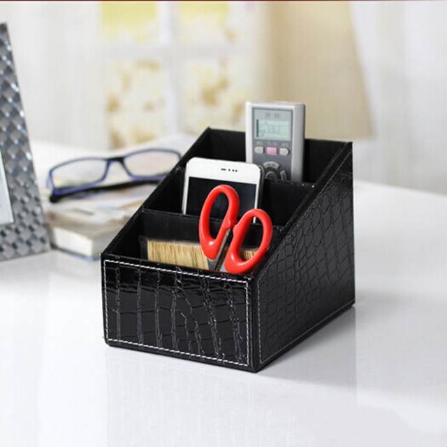 Retro Patterned Desktop Stationery Organizer