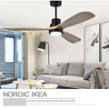 Amerikanischen Retro Decke Fan Licht Nordic Moderne Esszimmer Schlafzimmer Wohnzimmer Restaurant Massivholz Fan Lampe Freies Verschiffen