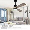 Ventilador de techo Retro americano luz nórdica moderna comedor dormitorio sala de estar restaurante lámpara de ventilador de madera maciza envío gratis