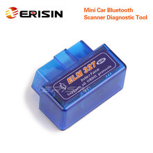 Erisin es350 mini obd2 v1.5 ferramenta de diagnóstico do varredor do carro bluetooth para android só