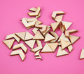 Hot Sale Zig Zag DIY Unfinished Wood Chevron Tile Triangles Wooden Beads for Earrings100pcs/lot Free Shipping