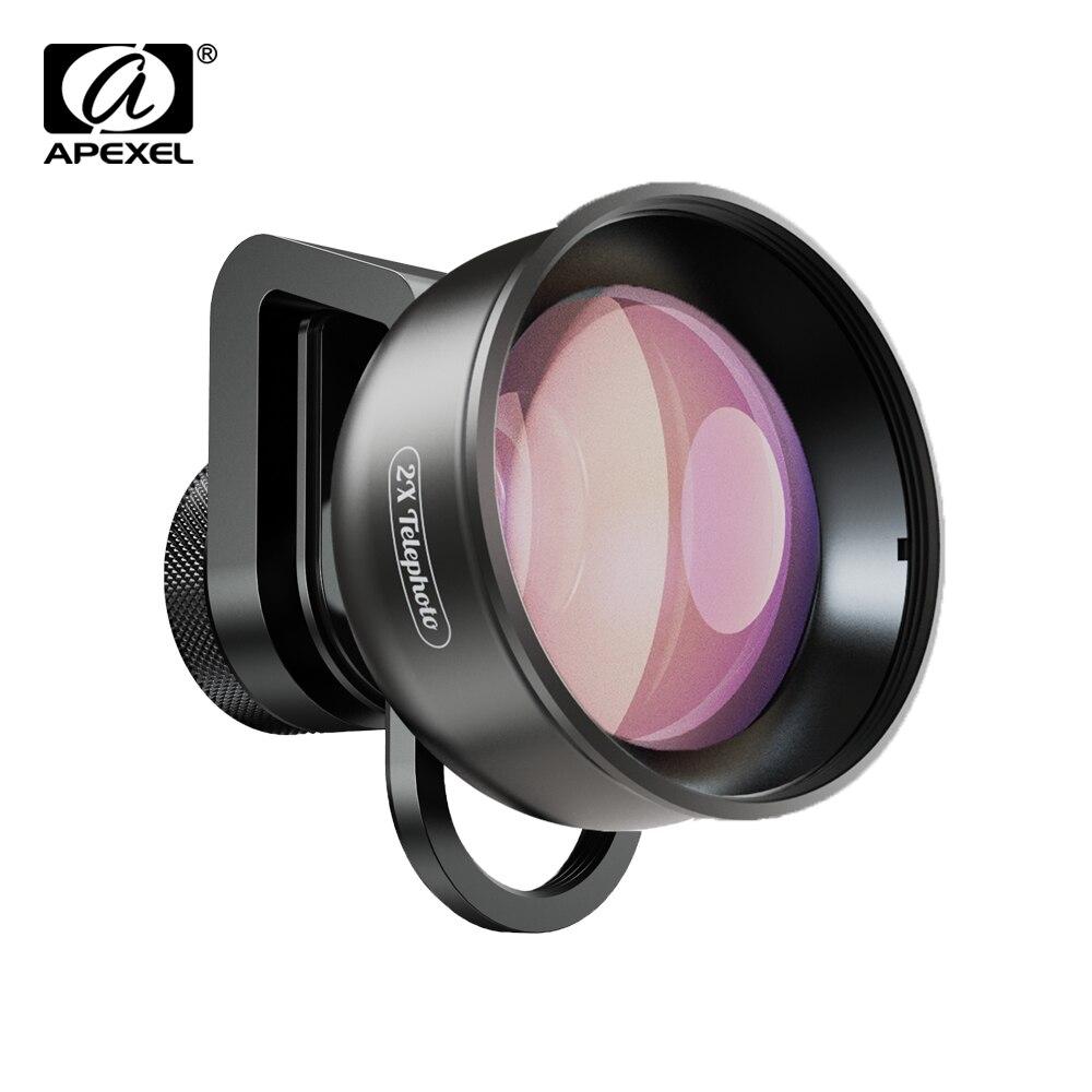 APEXEL mobiele telefoon lens 4K HD 2X telescoop lens tele zoom + CPL star filter voor iPhone Xiaomi alle smartphone drop-verzending