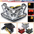 Motorcycle Accessories High Quality Clear Integrated LED Tail Light + Turn signal Blinker Fit For Kawasaki ZX-6R Z800 2013-2016