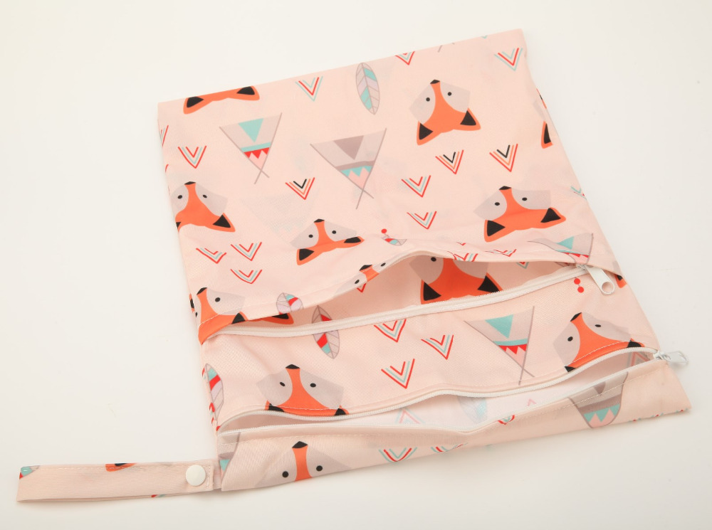 HTB1zRY5oStYBeNjSspaq6yOOFXaN [Sigzagor]Wet Dry Bag With Two Zippered Baby Diaper Bag Nappy Bag,Waterproof Reusable 36cmx29cm Owl&Tree 100 Designs