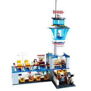 Image 5 - 市国際空港 652 ピース航空航空機ビルディングブロックレンガモデル子供のおもちゃクリエーター互換 Legoings