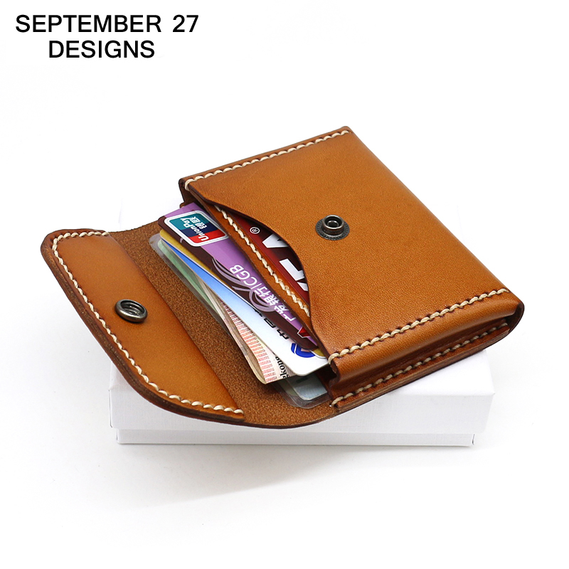 Coin Purses Business Card Case Genuine leather Men Mini Purse Women Handmade Wallets Coin Pouch ID/Bank/Name/Credit Card Holder genuine leather coin purses women small change money bags pocket wallets female key chain holder case mini pouch card men wallet
