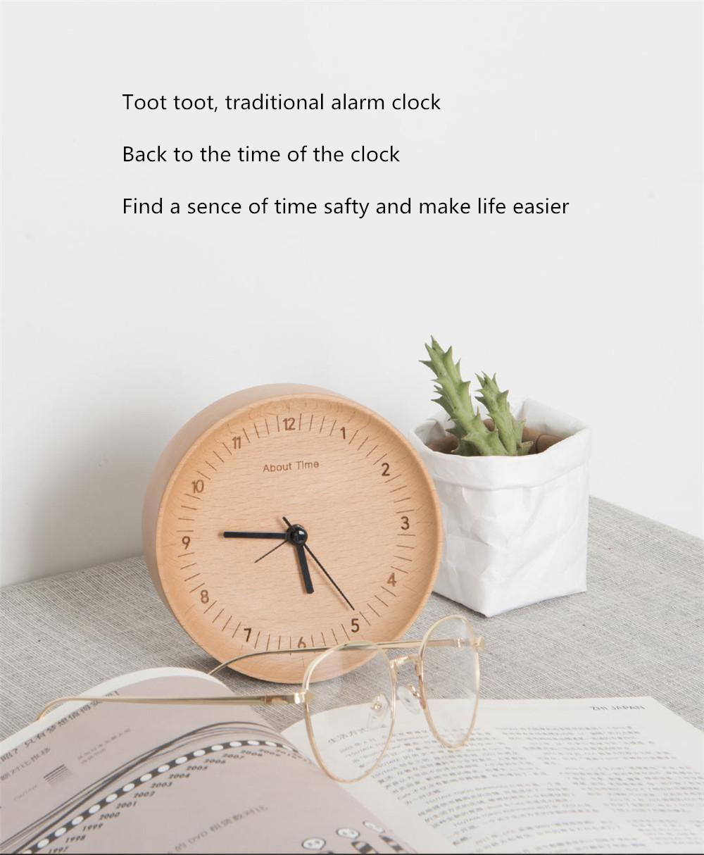 Xiaomi Mute Wooden Alarm Clock (9)