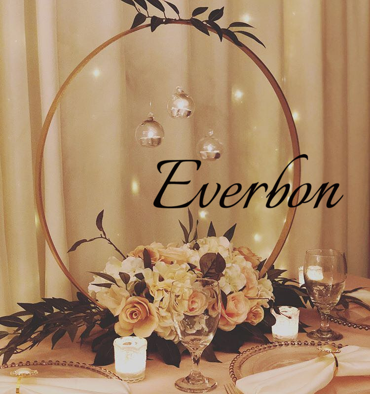 New Wedding Centerpieces Decoration gold color metal round Ring Arch Set for wedding table centerpieces