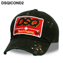 DSQICOND2 Wholesale Cotton Baseball Caps DSQ Letters High Quality Cap Men Women Customer Design DSQ Logo Hat Black Cap Dad Hats(China)
