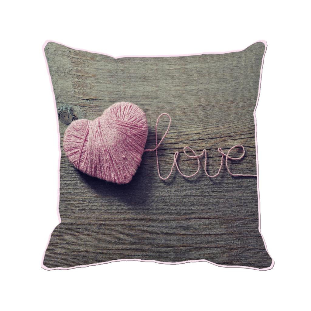 popular brown pillows decorativebuy cheap brown pillows  - pink woolen yarn heart shape with love printed customized brown cushioncover wedding home and sofa