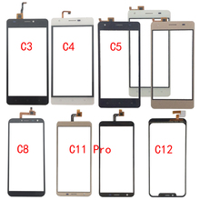 Touch Screen Glass For Oukitel C3 C4 C5 C8 C11 Pro C12 Touch Screen Glass Digitizer Panel Glass Sensor Mobile Phone Adhesive