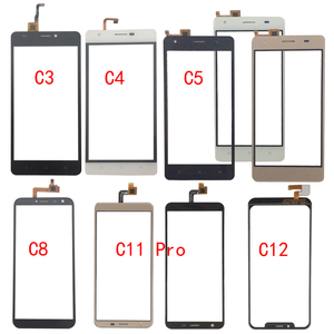 Image 1 - Touch Screen Glass For Oukitel C3 C4 C5 C8 C11 Pro C12 Touch Screen Glass Digitizer Panel Glass Sensor Mobile Phone Adhesive